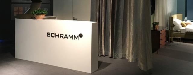 Messestand der Schramm Werkstätten auf der IMM in Köln 2017